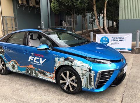 El Toyota Mirai propulsado por hidrógeno producido en Queensland