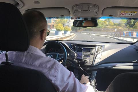 Conductor de Cabify esta semana en Madrid.