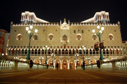 The Venetian is a luxury hotel, mall, and casino in Macau. Built in 2005, the 738-foot resort cost $2.4 billion.