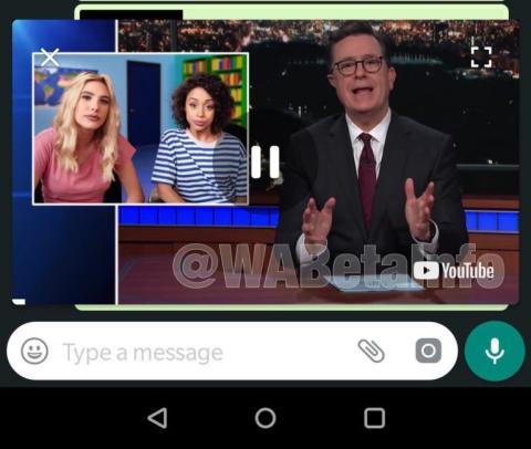Así es la ventana flotante para ver vídeos en WhatsApp en Android
