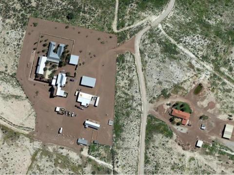 Vista del rancho de Bezos
