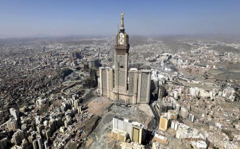 At a whopping $15 billion, the Abraj Al Bait features seven towers completed from 2007 to 2012. Located in Mecca, the Saudi Arabian government owns the complex.