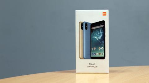 Packaging del Xiaomi Mi A2