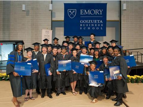 T-50. Emory (Goizueta) grads earn an average post-graduation salary of $120K to $130K.
