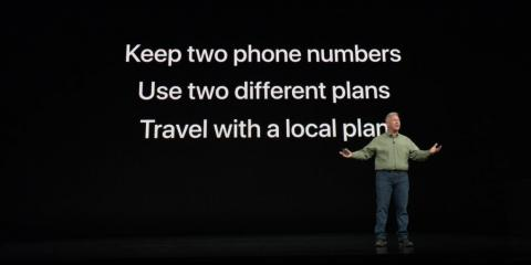8. The iPhone XR has the same dual-SIM system as the iPhone XS and XS Max.
