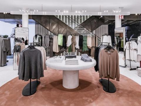 Zara's sleek furniture design in one of its Milan stores.