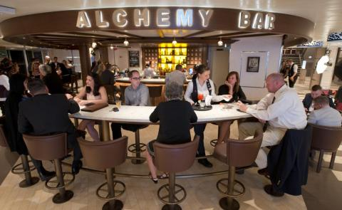 And the Alchemy Bar on Deck 5 is the perfect place to unwind for a drink after shopping.
