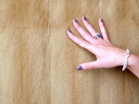 ...y pieles de visón en la otra pared