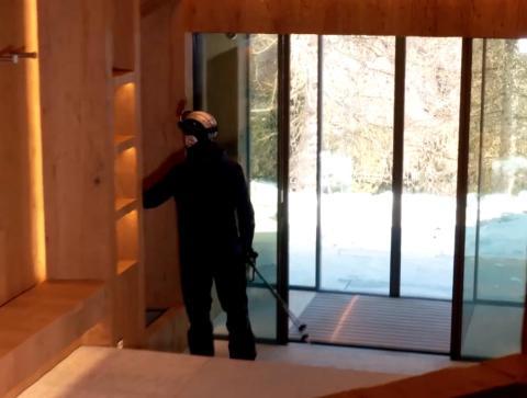 Otra joya preciada de la casa es la guarida privada de esquí