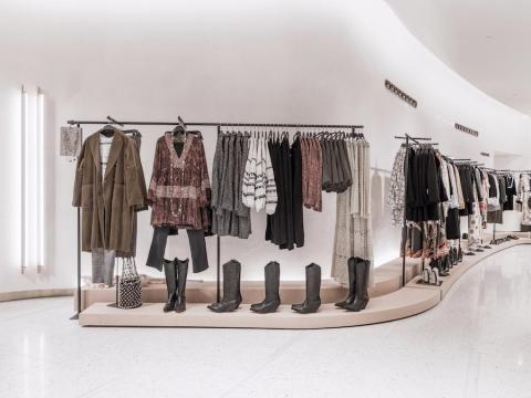 This photograph is from a Zara store in Milan.