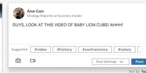 Cualquier cosa que no esté relacionada con lo laboral, mejor dejarla fuera de LinkedIn