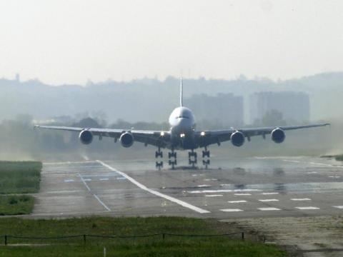 On April 27, 2005, at 10:30 a.m. local time, the first Airbus A380 prototype opened up the throttles of its four massive turbofan engines.