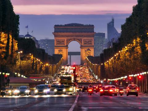 The Avenue des Champs Elysées in Paris is one of the most iconic streets in the world, lined with museums, high-end restaurants, and five-star hotels.