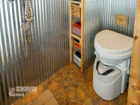 The bathroom might also be a little different — most tiny homes use compost toilets. While these help with conservation, they do need to be emptied periodically. Jenna wrote in her blog it can also be a little awkward to explain