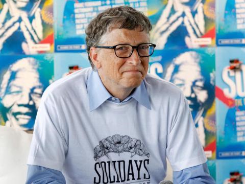 Bill Gates has an estimated net worth of $110 billion.