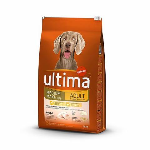Una bolsa de 7,5 kilos de pienso para perros adultos Ultima de Affinity