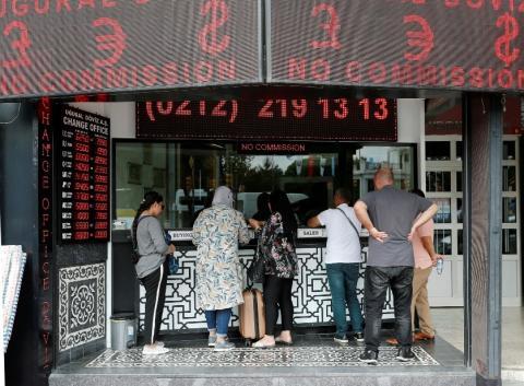 Casa de cambio en Turquía tras el desplome de la lira