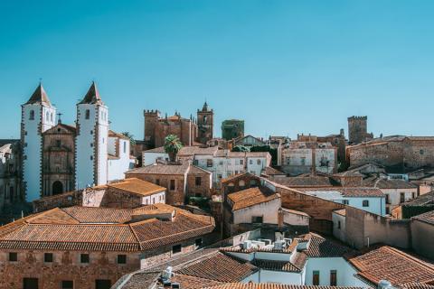 Casco antiguo de Cáceres (Extremadura)