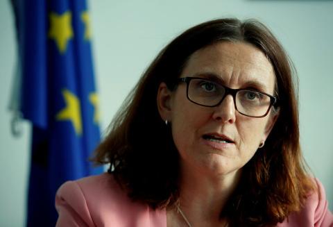 La comisaria europea de Comercio, Cecilia Malmstrom