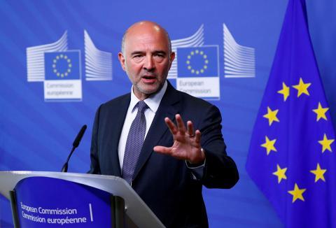 El comisario europeo de Economía y Finanzas, Pierre Moscovici