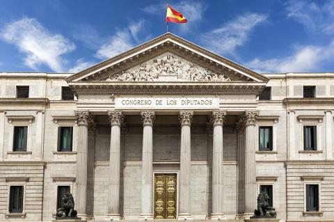 El Congreso de los Diputados español.