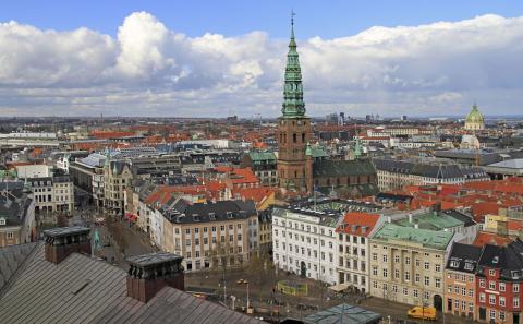 Vista aérea de Copenhague (Dinamarca)