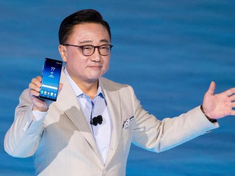 DJ Koh, president of mobile communications business at Samsung.
