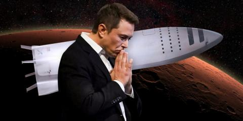Elon Musk and SpaceX's Big Falcon Rocket is designed to carry up to 100 people and deliver 150 tons of cargo to Mars.