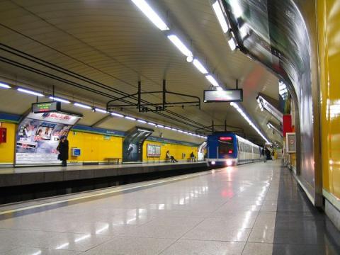 Estación de Metro de Rubén Darío, en el centro de Madrid