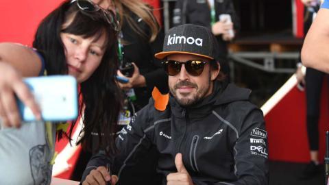 Fernando Alonso en el GP Rusia 2018