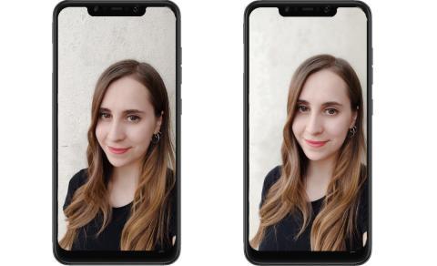 Foto normal   vs     Foto modo Retrato