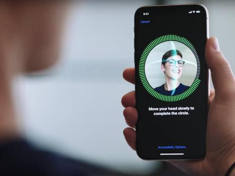 "Apple's iPhone X devices use its special ""True Depth"" camera system to scan a user's face and securely log them in."