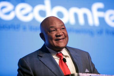 George Foreman, en un Freedomfest