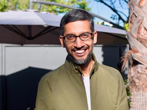 Google CEO Sundar Pichai at the 2018 Google I/O developer conference.