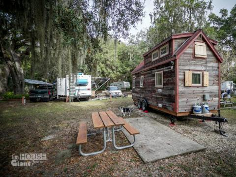"Her tiny house is also restricted by weight, which is determined by axle size. ""I can't add a marble countertop or a tile bathroom to my house,"" she wrote. ""I have to think about every single item I bring in to my home. Often,"