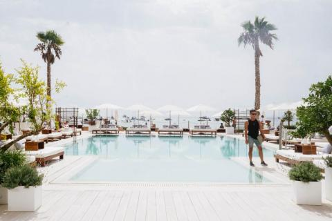 I headed out to the main pool to relax. At 152 rooms, the hotel is relatively small, which gives it the vibe of a secluded escape. I was told the hotel was fully booked, but the majority of the sun beds were unoccupied on the day