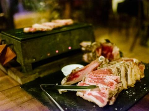 Ibiza also had places like Can Caus, a grill and restaurant located on a farm in the countryside. The restaurant sells all local Ibizan products and many of the meats come directly from the farm. I ordered the ox rib for two ($56)