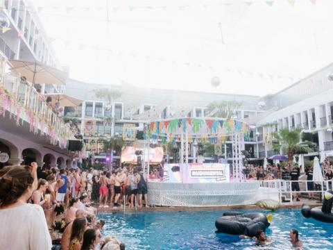 Ibiza is also known for having wild pool parties during the day. I attended a Sunday pool party at Ibiza Rocks Hotel. By 5 p.m., the crowd was lit.