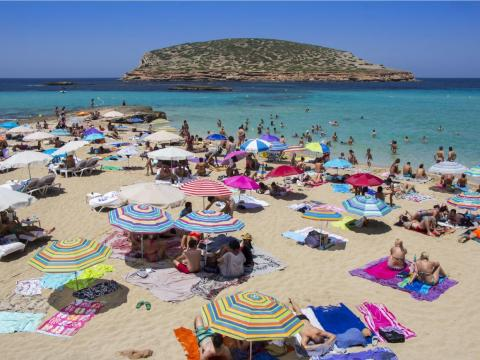 As Ibiza is considerably larger than Mykonos, there's a lot more variety in beaches, like Cala Conta, a gorgeous beach with rock cliffs and sand dunes and ...