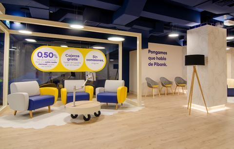 Una imagen de la oficina de Pibank en Madrid.