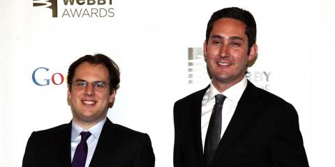 Instagram cofounders Mike Krieger and Kevin Systrom attend the 16th Annual Webby Awards at Hammerstein Ballroom on May 21, 2012 in New York City.
