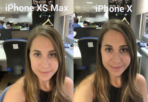 iPhone X y iPhone XS Max selfie