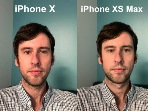 The iPhone XS made my face look like it was airbrushed or painted here.