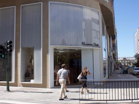 It doesn't take long to stumble across an Inditex-owned store in La Coruña.