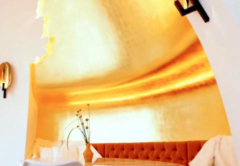 Sus paredes están recubiertas de oro de 24 kilates