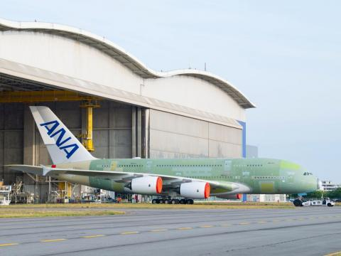 Japan's All Nippon Airways will soon begin commercial service with its first A380.