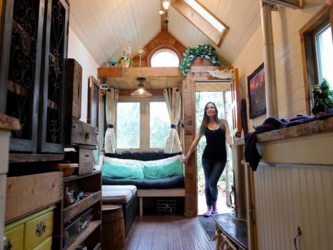 "Jenna also found a few challenges to living small. ""I don't have guests over very often and I had to make some compromises when it comes to creature comforts,"" she said."