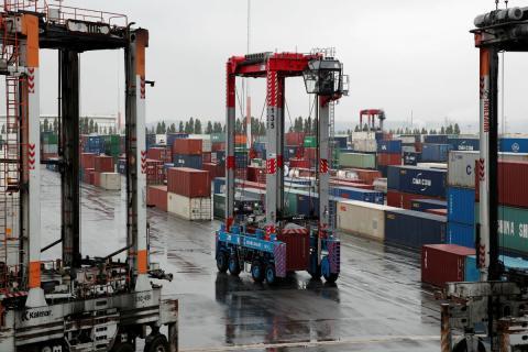 Mercancías en el puerto de Le Havre