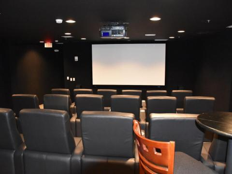 También se incluyen comodidades de lo más lujosas, como un cine en casa...