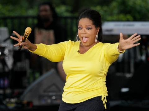 "Oprah Winfrey's workouts include ""45 minutes of cardio six mornings a week, four to five strength-training sessions a week, incline crunches, and stretching,"" according to her trainer."